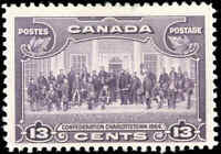 Mint H Canada 1935 F+ Scott #224 13c Pictorial Issue Stamp