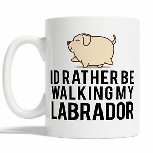 Id Rather Be Walking My Labrador Mug Coffee Cup Gift Idea Dog Pet Owners Funny