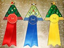 1st - 3rd Place Christmas Tree Rosettes Dog Show, horse pony gymkhana