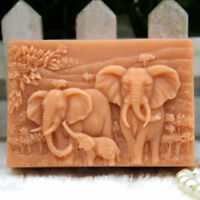 Craft Handmade DIY Molds Elephant Family Making Mould Silicone Soap Candle Mold