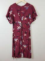 [ VERONIKA MAINE ] Womens Floral Print Dress  | Size AU 12 or US 8