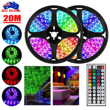 12v 10m RGB LED Strip Lights Ip65 Waterproof 5050 44key IR Controller AU Adapter