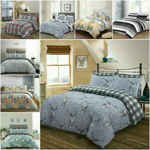 200 Thread Count Print Duvet Cover 100%Egyptian Cotton with Pillowcases All Size