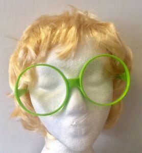 Elton John Style Blonde Wig & Oversized Glasses Short Mens 70's Fancy Dress