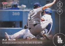 2016 TOPPS NOW 290 A.J. Ellis Dodgers 35 yr old catcher 1st SB PRINT RUN 261