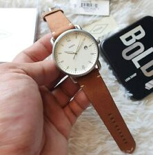 Fossil 5275 The Commuter Cream Dial Brown Leather Men's Watch