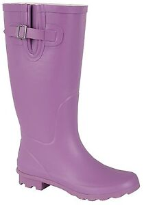 New Ladies Festival Rain Snow Welly Wide Calf Fit Wellies Wellington Boots