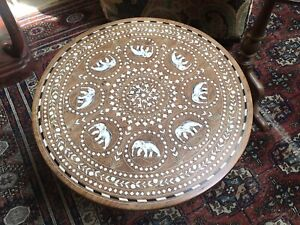 SUPERB ANGLO/INDIAN INLAID SIDE TABLE