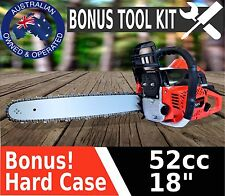 "NEW 52CC PETROL COMMERCIAL CHAINSAW 18"" BAR CHAIN SAW TREE PRUNING LOG SHARPENER"