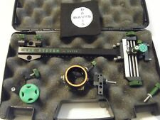 "4"" DAVIS TARGET SIGHT- Double knob-8.5 -black/green knobs-scope .019 green."