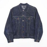 Vintage TEDDY SMITH Blue Casual Lightweight Denim Jacket Size Men's Medium