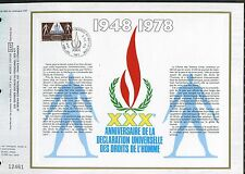 DOCUMENT CEF PREMIER JOUR  1978  TIMBRE   N° 2027 DECLARATION UNIVERSELLE