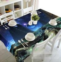 3D Planet Scenery Tablecloth Table Cover Cloth Birthday Party Event AJ WALLPAPER