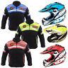 Kids Child Motorcycle Motorbike Jacket Waterproof Motocross Helmet Racing Helmet