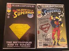 Adventures of Superman 501 / 15 High Grade Variant Comic 2 Books DC Comic Key
