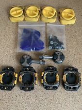 Speedplay Stainless Zero Pedals Black & Two Pairs Of Aero Walkable Cleats