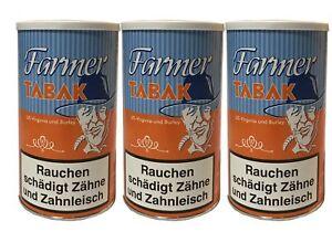 3 Dosen Farmer Tabak / Pfeifentabak à 160 g
