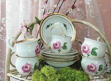 """""""Rosy Swan """" Meissen Biedermeier Swan Porcelain Rose Mocha Cups"""