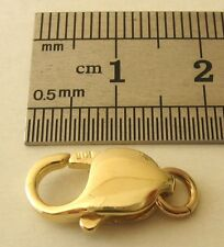 17 mm LARGE WIDE GENUINE 9K 9ct SOLID GOLD PARROT LOBSTER CLASP with JUMP RING