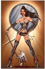 Awesome Zenescope CALIE Return to Wonderland signed/#'d Litho by Billy Tucci