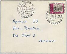 59652 - Italia REPUBBLICA - STORIA POSTALE: annullo CALCIO 1971 FOOTBALL - INTER