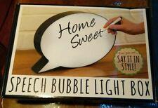 Large Speech Bubble Light Box. New Still Boxed.