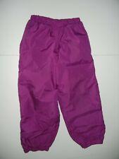 REI Bright Purple Nylon SNOW PANTS Fleece Lined Hiking Ski Kid Sz YOUTH SM 6/7
