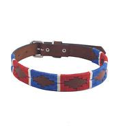 """Sam"" Diamond Leather Dog Collar - Width 0.8"""