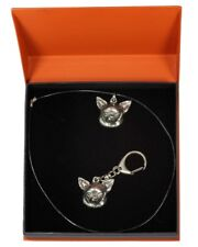 Chihuahua - silver covered keyring, pendant, set with dog, Art Dog type 2