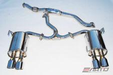 INVIDIA Q300 Quad Stainless Roll Tip Catback Exhaust for WRX STi 11-14 Sedan