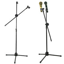 Professional Boom Microphone Mic Stand Holder Adjustable With Clips