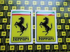 2 x Aufkleber Sticker 3D FERRARI gross Official Decal 84 x 52mm Adhesivo