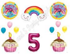 TROLLS POPPY & RAINBOW 5th Movie Birthday Party Balloons Decoration Supplies