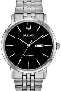 Bulova America Clipper Automatic Black Dial  S/Steel Men's Watch (Model: 96C132)