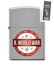 Zippo 200 world war II 1939-1945 WWII commemorative Lighter + FLINT PACK