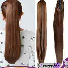"""15""""-30"""" Indian remy human hair extensions pretty straight Claw Clip Ponytail"""