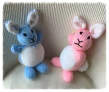 LOVELY HAND KNITTED BABY  BUNNY PINK/BLUE 28cm- New Baby/Easter/baby shower?