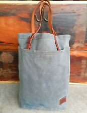 BRADLEY MOUNTAIN WAXED CANVAS/LEATHER CARRYALL TOTE BAG MADE IN USA