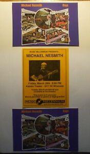 Michael Nesmith 2 RAYS promo postcards 1 Flyer Live Portland Oregon The Monkees
