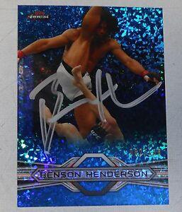 Benson Henderson Signed UFC 2013 Topps Finest Refractors Blue Card #43 /188 Auto