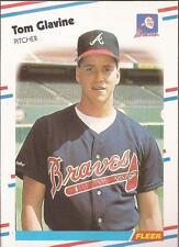 TOM GLAVINE 1988 Fleer Rookie Card Atlanta Braves