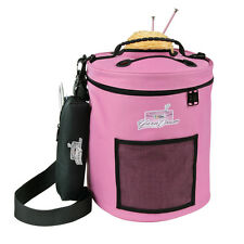 Artbin Yarn Drum wool skeins bag storage tote round knitting pink
