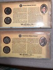 2004 & 2005 Peace Medal And American Bison Nickel  First Day Commemorative Cover