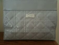 DIOR SILVER  QUILTED  COSMETIC BAG POUCH BRAND NEW DIOR SILVER  BEAUTY LOGO