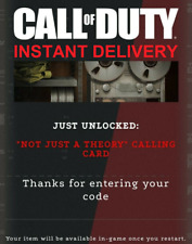 Call of Duty Not Just A Theory Calling Card - Exclusive Season 4 Calling Card