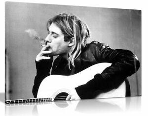 Kurt Cobain Nirvana Smoking Canvas Wall Art Picture Print