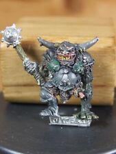 CLASSIC METAL 1980'S CITADEL CHAOS CHAMPION NURGLE WITH MACE PAINTED (2188)