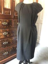 Austin Reed Talla 14 Vestido Negro De Lana Mezcla