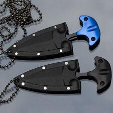 Pocket EDC Double Edge Fixed Blade Dagger Knife Outdoor Survival Supply Random