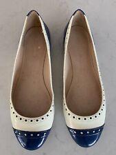 34e53946a946 Kate SPADE Women s BLUE   Cream Ballerina Flats - Size 9